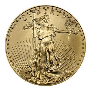 2018 1/10 oz Gold American Eagle $5 GEM BU Coin SKU50852