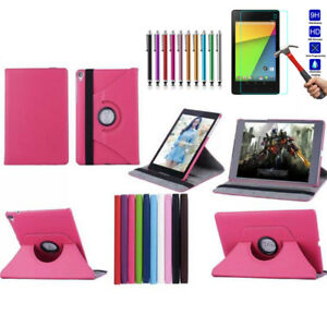 360-Rotating-Flip-Stand-Leather-Folio-Tablet-Case-Cover-For-Google-Nexus-7-2nd