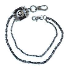 Portemonnaie Schlüsselkette HosenKette Kette metalic schwarz Zacken Stern 195g