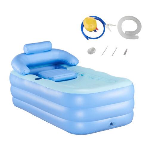 Aufblasbar Badewanne Aufblasbar Luft faltbar Reise Pool SPA 160x84x64cm