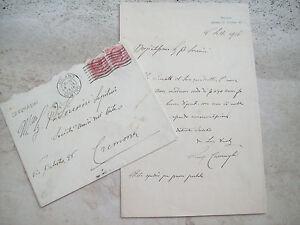 1916 Lettre Du Grande Peintre Bergamasco Luigi Carson De Caravaggio