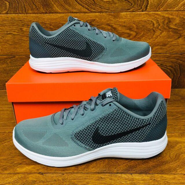 *NEW* Nike Revolution 3 Zoom (Men Sizes) Cool Grey Black White Running Shoes