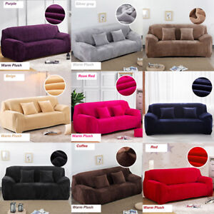 Elastic-Slipcover-Thick-Plush-Sectional-Sofa-Solid-Couch-Covers-1-2-3-4-Seater