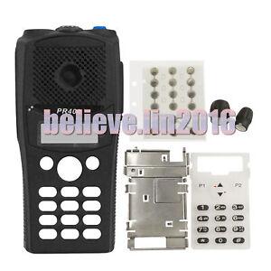 Full-keypad-Black-Repair-front-Housing-Case-For-Motorola-PR400-Walkie