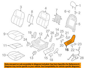 nissan oem 14 18 rogue driver seat outer finish panel 873804bb3a ebay Pin Out Diagram image is loading nissan oem 14 18 rogue driver seat outer