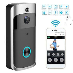 Smart Video Wireless WiFi DoorBell IR Visual Camera Record ...