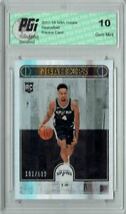Derrick White 2017 Hoops #279 Silver SP, Only 199 Made Rookie Card PGI 10