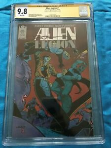 Alien-Legion-1-1987-Marvel-Epic-CGC-SS-9-8-Signed-by-Larry-Stroman