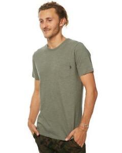Rip-Curl-PLAIN-SLUB-TEE-Mens-Crew-Neck-Short-Sleeve-T-Shirts-CTECY2-Mid-Green