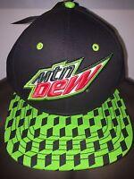 Mt Mtn Mountain Dew Soda Pop X-games Bmx Motocross Men's Snapback Hat Cap
