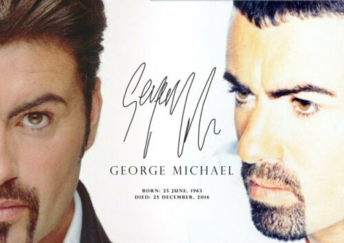 Music Star Photo Signed George Michael Tribute 16 English Singer Poster Wham