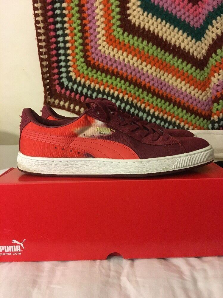 Mens Puma Shoes, Basket Shoes, Puma Burgundy, Size 12 f2bb26