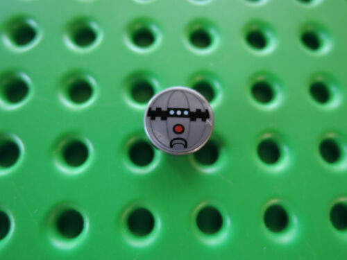 Lego 2 x Fliese 98138pb008 rund 1x1 flat silber Sprengkapsel 8516 75157 75019