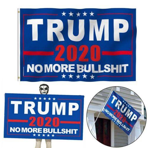 3x5Ft Donald Trump 2020 Flag No More BS MAGA Flag Banner Blue Garden Flag USA d6