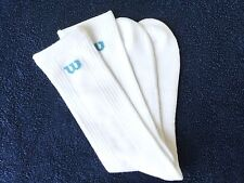 MENS QUALITY WILSON SOCKS WHITE BLUE ARCH SUPPORT BREATHABLE CUSHIONED UNDERFOOT