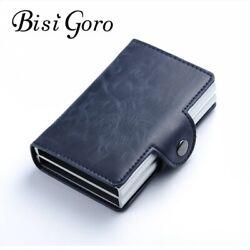 Bisi Goro 2019 Männer Und Frauen Business Kreditkarte Halter Metall RFID Doppel
