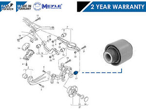 FOR-VW-REAR-AXLE-LOWER-CONTROL-TRACK-SUSPENSION-ARM-OUTER-HUB-BUSH-MEYLE-GERMANY