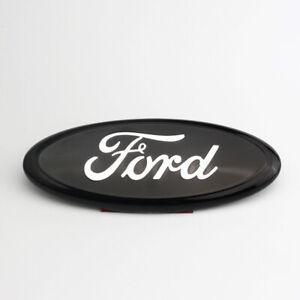 "1Pcs 7"" Black&Chrome  2005-2014 Ford F150 FRONT GRILLE/ TAILGATE Oval Emblem"