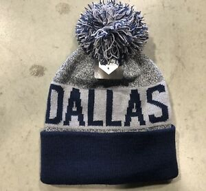 NWT - Dallas Cowboys Team Color Pom pompom Beanie hat cap FREE S H ... f001a51545b