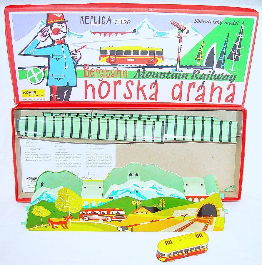KOVAP República Checa ferroCocheril de montaña 1 120 Wind-Up Wind-Up Juguete de hojalata tren 50 cm sin usar, en caja Rare   productos creativos