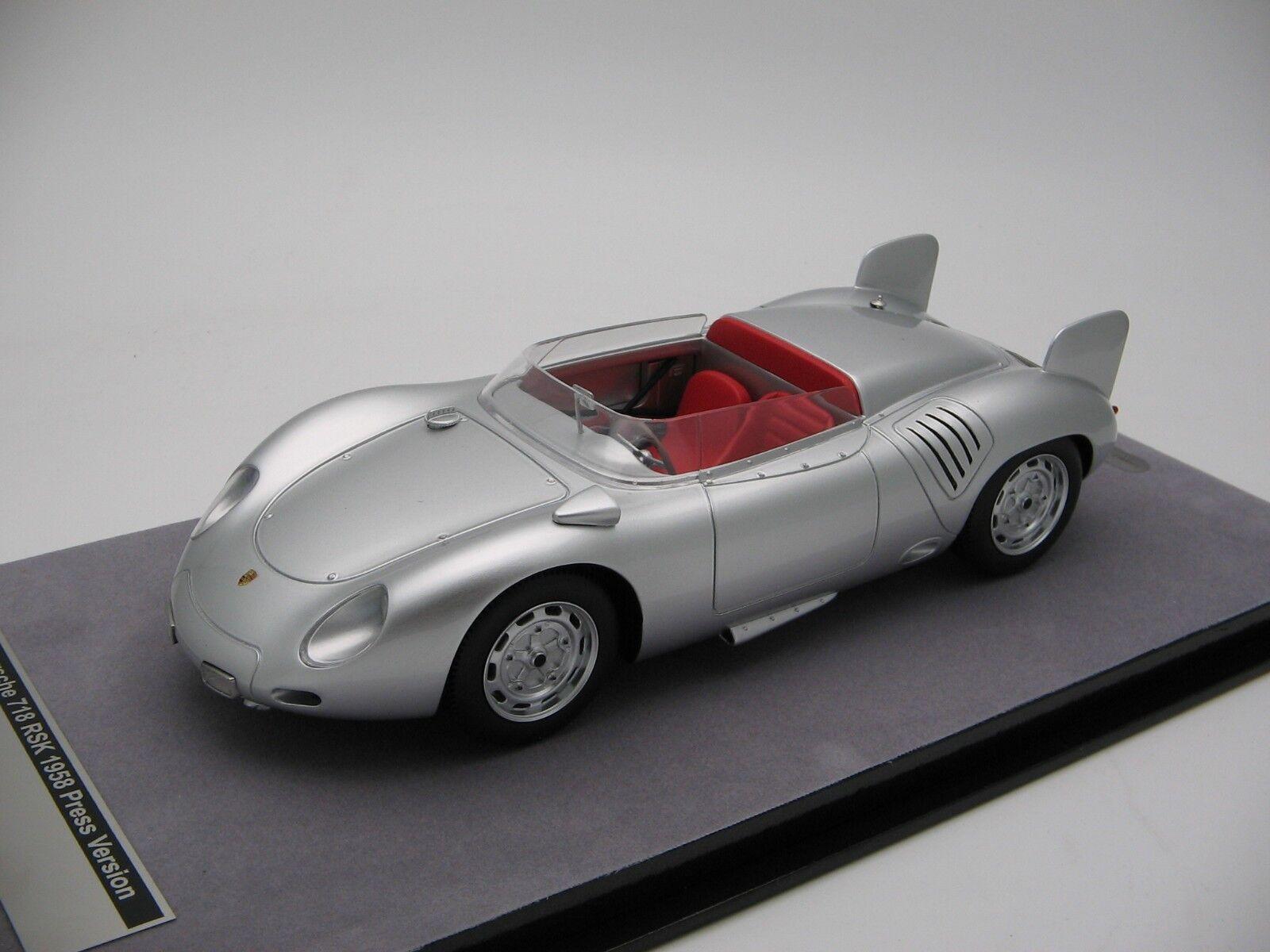 1 18 scale Tecnomodel Porsche 718 RSK Press Version 1958 - TM18-82E