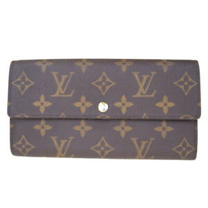 Auth-LOUIS-VUITTON-Portefeuille-Sarah-Long-Bifold-Wallet-Monogram-M61734-63ES447