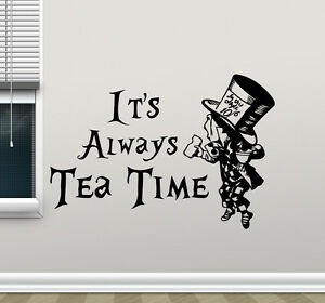 Image Is Loading Alice In Wonderland Wall Decal Tea Time Kitchen