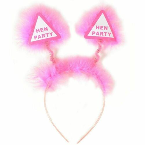 6 Novelty Pink Hen Party Night Out Bopper Headband Girls Ladies Adult Accessory