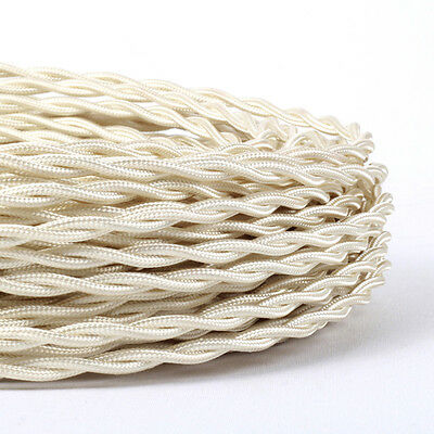 Two Core Twisted Vintage Style Silk Braided Fabric Cable  for Lighting lamp CORD
