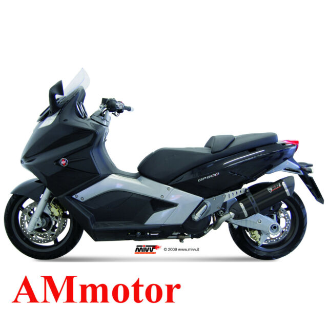 Escape Completo Mivv Gilera Gp800 2008 08 Moto Silenciador Suono Black