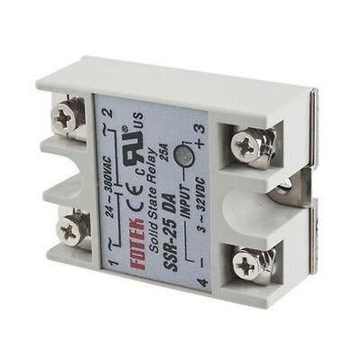 1//2//5//10PCS Solid State Relay SSR-25DA 25A 250V 3-32V DC Input Output AC 24-380V