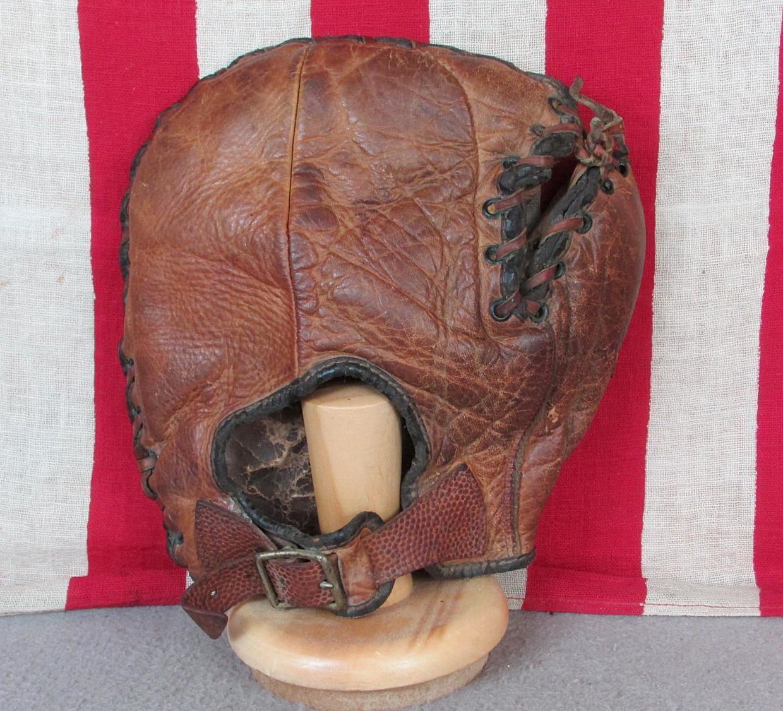 Vintage 1930s Jc Higgins Cuero Guante de Béisbol Basemans Babe Dahlgren Bonitos