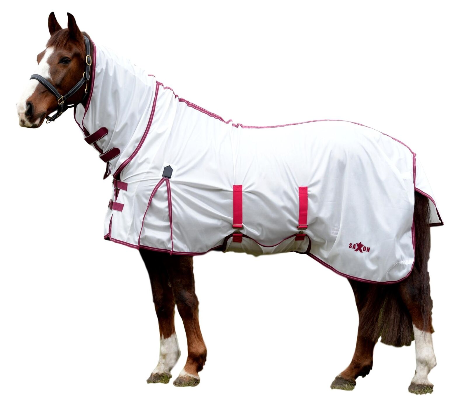 Saxon Softmesh Combo Fly Sheet with Adjustable Belly Wrap e Neck Cover