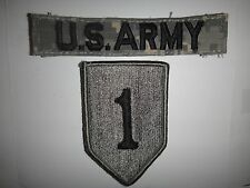 Set Of 2 US Army Patches: U.S. ARMY + 1st INFANTRY Division