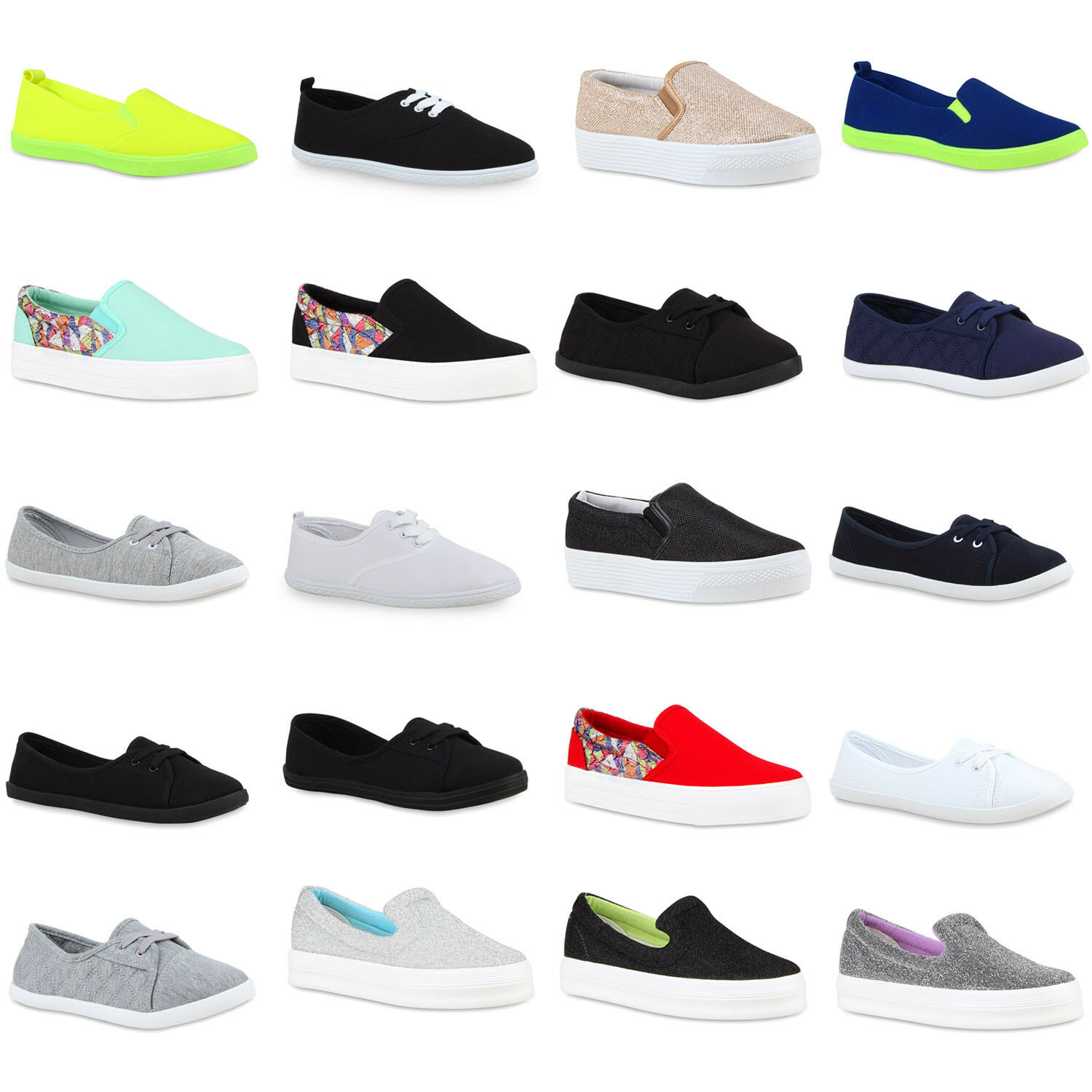 Damen Plateau Sneakers Neon Coole Slipper Ethno  zapatos zapatos zapatos  890975 Top 5adfd2