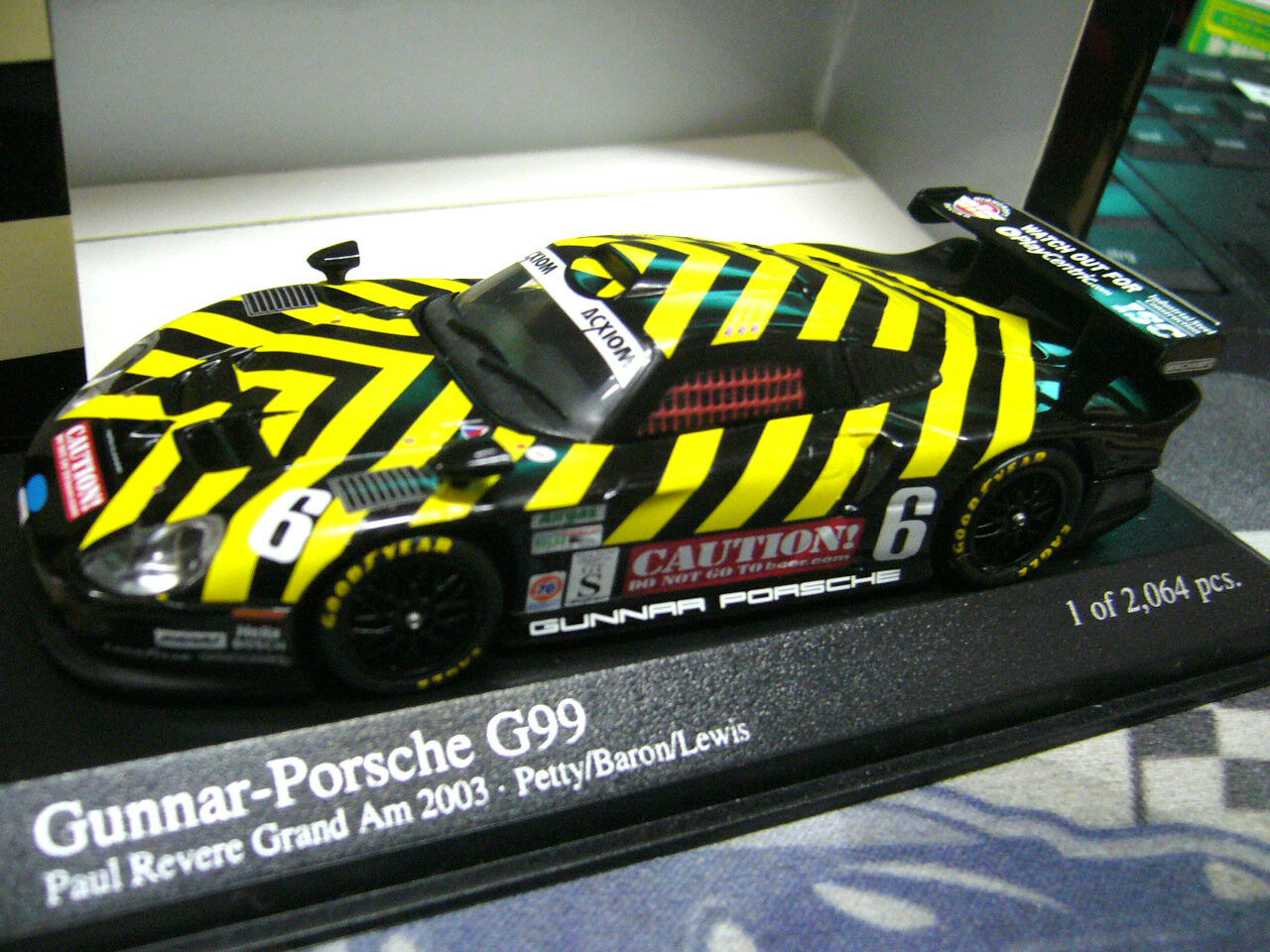 Envío y cambio gratis. Porsche 911 gt1 Gunnar Gunnar Gunnar g99 2003 Caution  Petty lewis  6 Minichamps pma 1 43  punto de venta de la marca