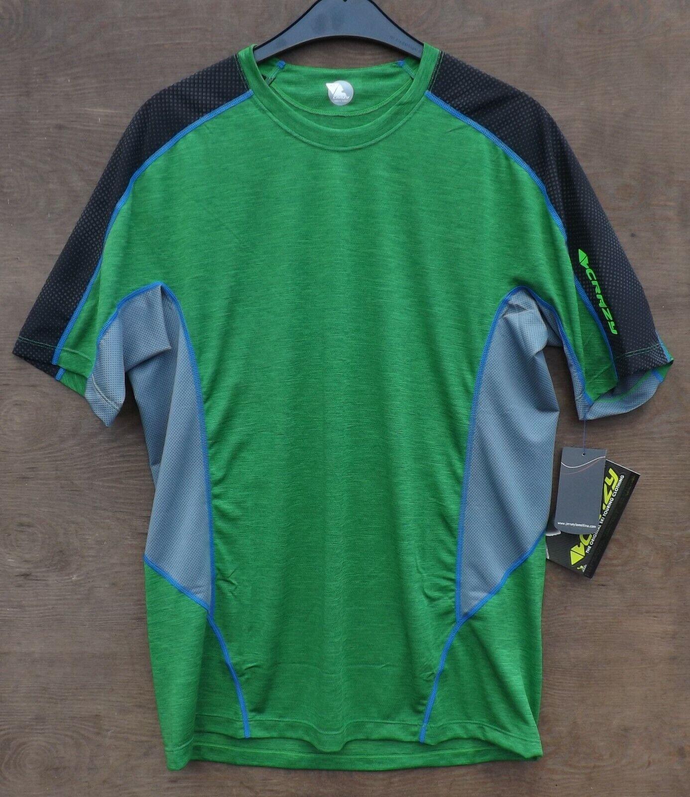 Crazy Idea Amps T Shirt Men  Lightweight Function Shirt Mens Green  outlet sale