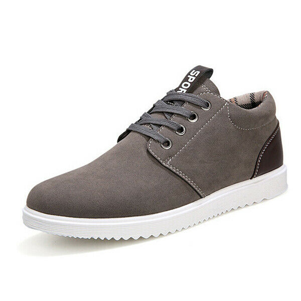 Men's Fashion Sports Casual Athletic Sneakers Suede Comfortable Flats shoes