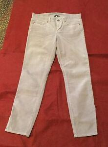 J-CREW-Women-039-s-Toothpick-Corduroy-Skinny-Stretch-Pants-Zipper-Ankle-Gray-Sz-28