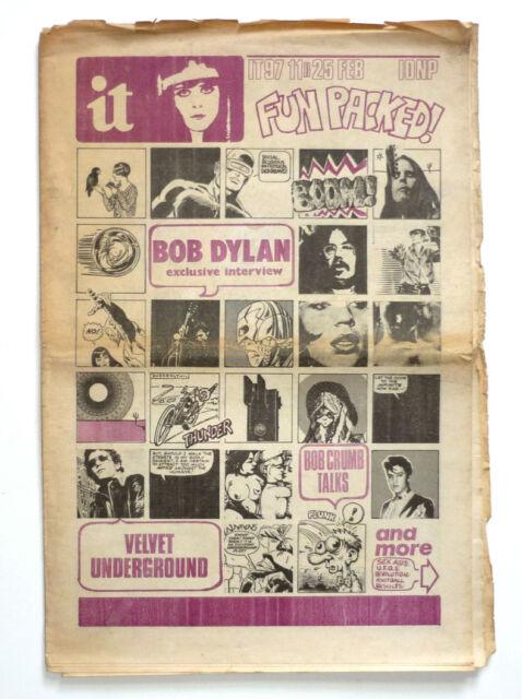 INTERNATIONAL TIMES No 97 Feb 11-25 1971 Bob Dylan OZ IT Era Underground magazin