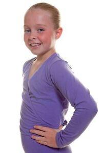 Capezio-Girl-Cross-Over-Top-Dark-Lavender-Ballet-Dance-Jazz-szS-BNWT-19