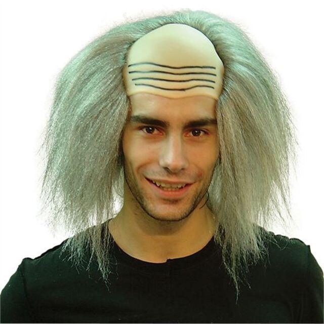 Grey Men's Mad Professor Wig - Mix Halloween Fancy Dress Scientist Accessory
