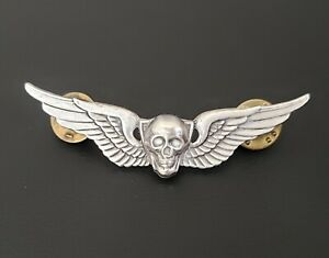 Skull-Aviation-Attack-Helicopter-Pilot-Wing-Badge-Pin-Insignia-US-Army