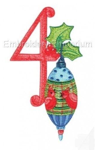 12 días de la Colección de Navidad-diseños de bordado de la máquina en CD o USB