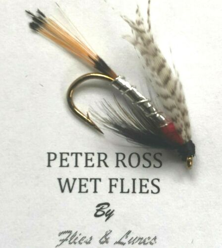 3,4 or 6 Trout Fly Fishing Wet Flies PETER ROSS Choose Quantity /& hook