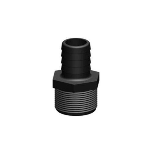 """TD90284 TRUDESIGN,TD-Schlauchanschluss schwarz 32mm 1 1//2/"""""""