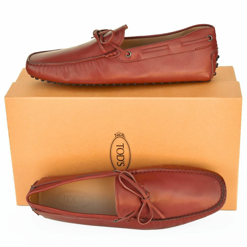 TOD'S Tods New sz US 9.5 Designer Mens Leather Drivers Loafers scarpe