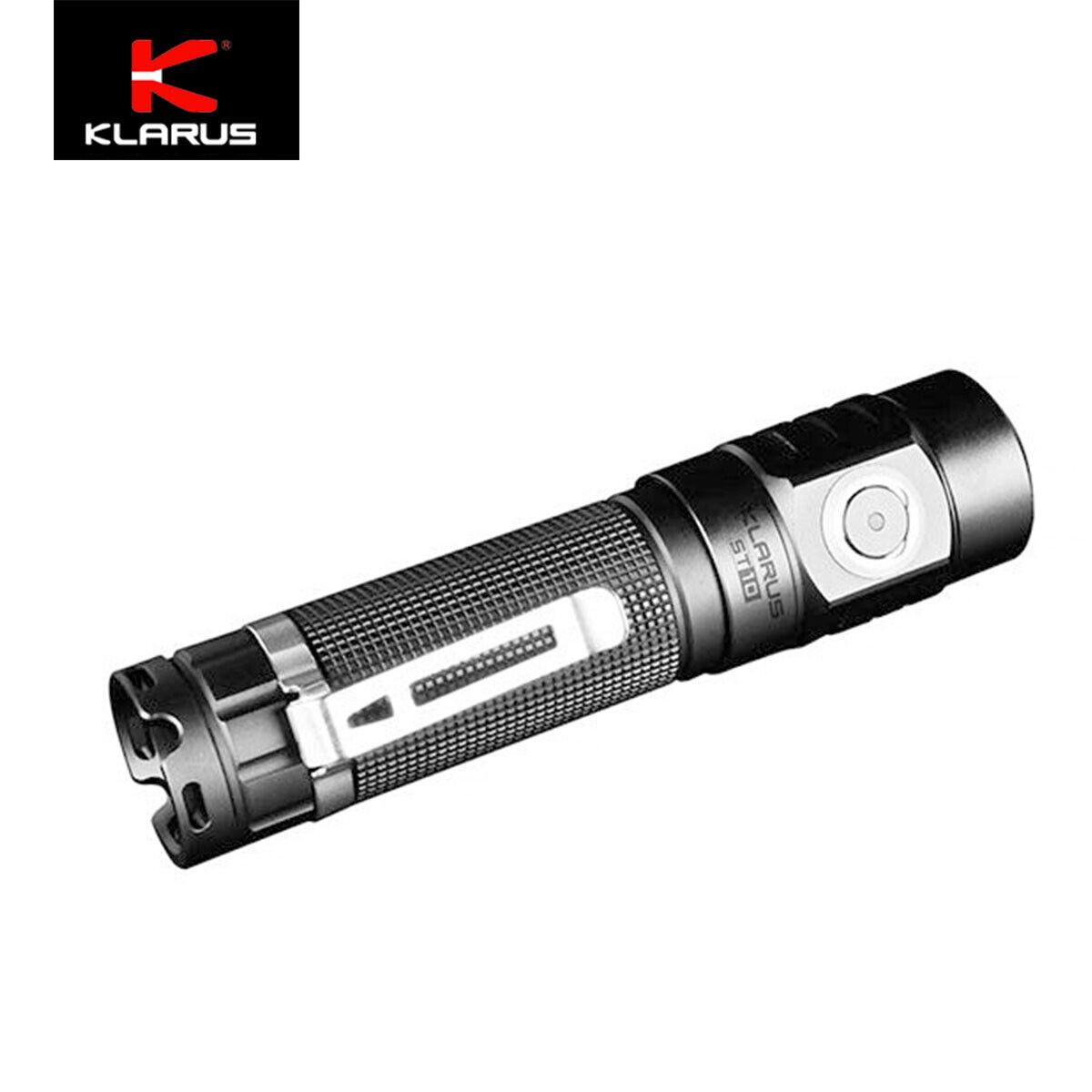 Klarus ST10 1100 Lumens Compact Lightweight Led Flashlight Micro-USB recharging