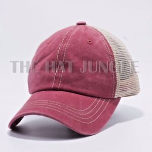 3efb4977b9a Image is loading Plain-Pigment-Dyed-Unstructured-Dad-Hat-Trucker-Buckle-