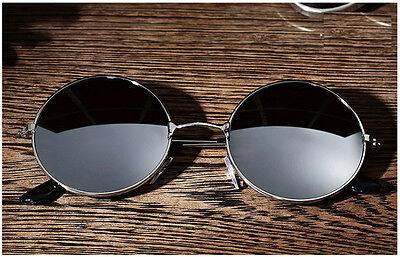 Mens Vintage Round Mirror Metal UV400 Sunglasses Women Retro Eyewear Glasses